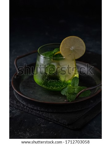 Fresh Mojito Drink Beverage Food Photography Royalty-Free Stock Photo #1712703058