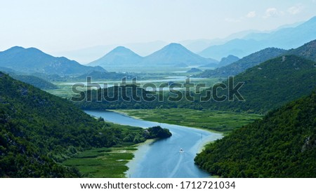 Lake Skadar in Montenegro- panorama #1712721034
