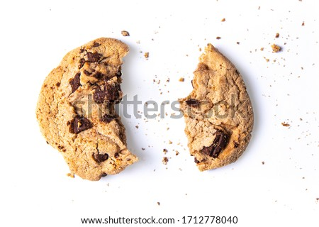 Isolate cookie on white background, With clipping path. #1712778040