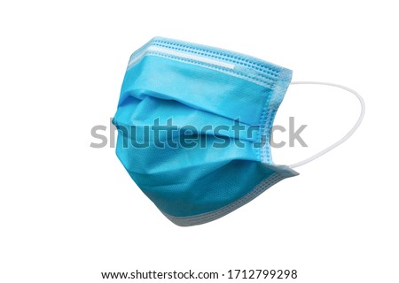 Medical mask or Hygienic mask isolated on white background with clipping path #1712799298