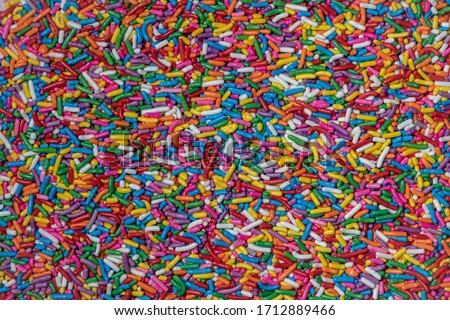 close up of colored sprinkles Royalty-Free Stock Photo #1712889466