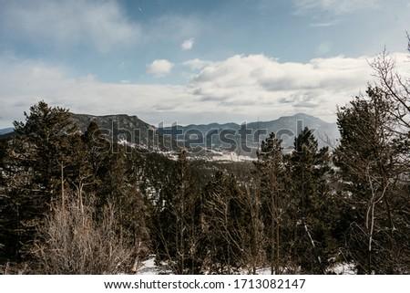 Snow in Rocky Mountain National Park, Colorado #1713082147