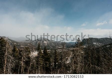 Snow in Rocky Mountain National Park, Colorado #1713082153