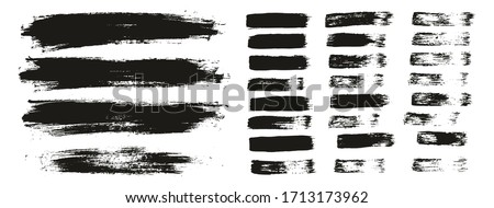 Flat Paint Brush Thin Lines & Background Mix High Detail Abstract Vector Lines Background Mix Set  #1713173962