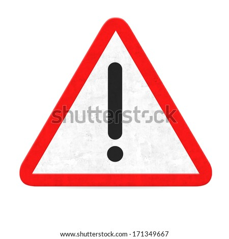 danger road sign