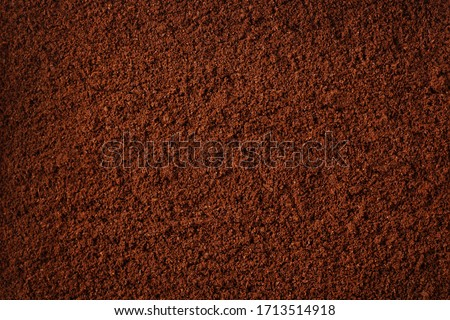 Coffee grind texture background , banner, closeup Royalty-Free Stock Photo #1713514918