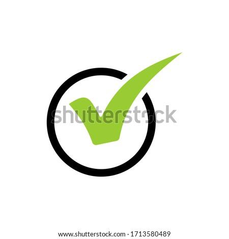 Check mark vector icons. Checklist icon symbol isolated