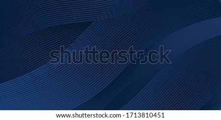 3D modern wave curve abstract presentation background. Luxury paper cut background. Abstract decoration, golden pattern, halftone gradients, 3d Vector illustration. Dark blue background #1713810451