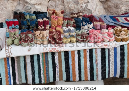 children's shoes made with wool and sock irons #1713888214