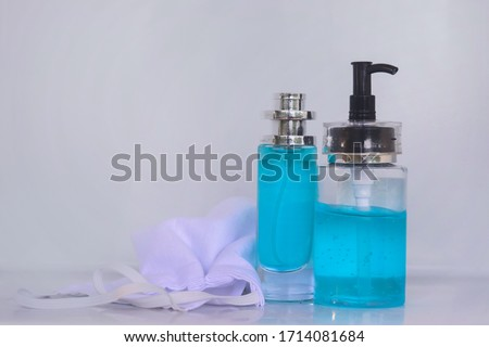 Sanitary mask and hand wash gel #1714081684