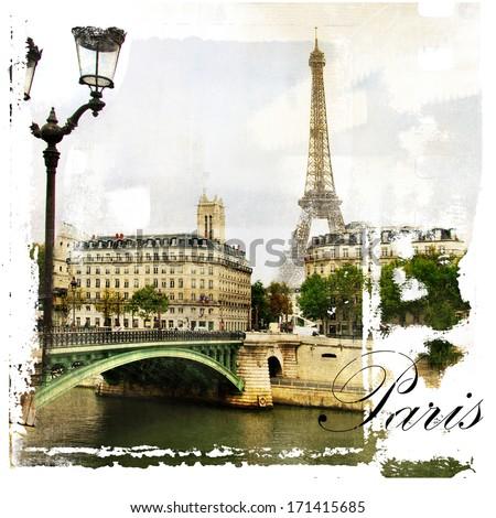 Paris, artistic vintage style picture