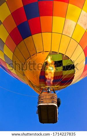 close up of a hot air balloon #1714227835