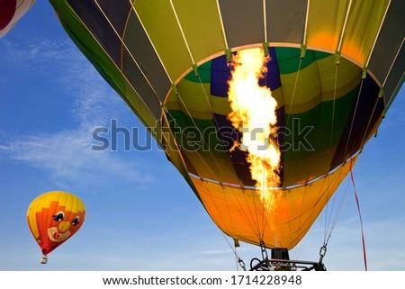 close up of a hot air balloon #1714228948