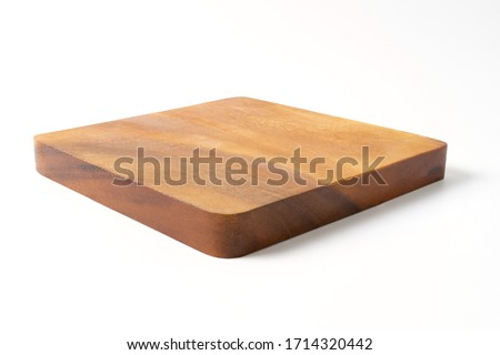 wooden board isolated on white background Royalty-Free Stock Photo #1714320442