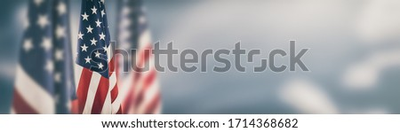 American flag for Memorial Day, 4th of July, Labour Day. Independence Day. Royalty-Free Stock Photo #1714368682