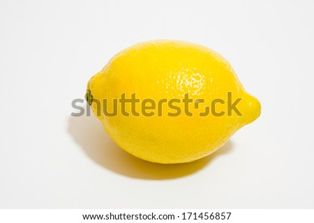 Lemon on white background #171456857