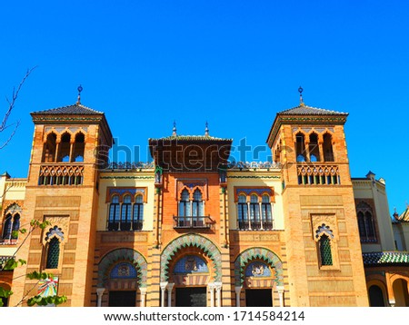 The Plaza de America and the Museum of Popular Arts in Seville, Spain #1714584214