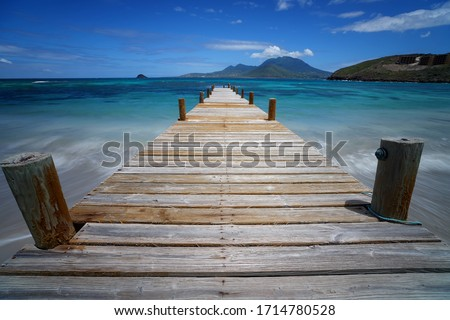 A Pier at Turtle Beach, St. Kitts.        #1714780528