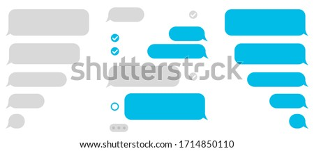 Set message icons, dialogue. Social network chatting window – vector Royalty-Free Stock Photo #1714850110
