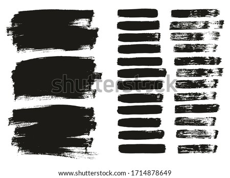Flat Paint Brush Thin Lines & Background Mix High Detail Abstract Vector Lines Background Mix Set  #1714878649