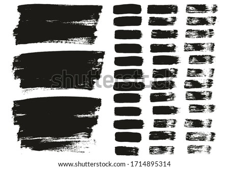 Flat Paint Brush Thin Lines & Background Mix High Detail Abstract Vector Lines Background Mix Set  #1714895314