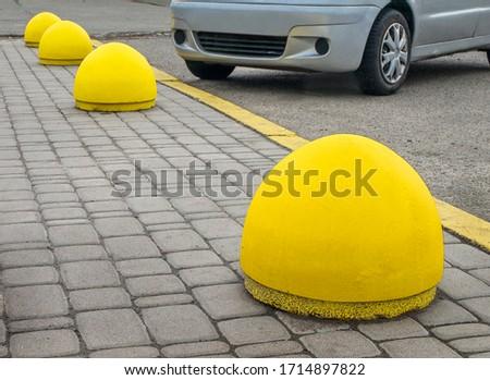 Concrete structure to prevent sidewalk parking #1714897822