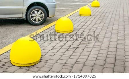 Concrete structure to prevent sidewalk parking #1714897825
