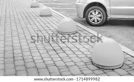 Concrete structure to prevent sidewalk parking #1714899982