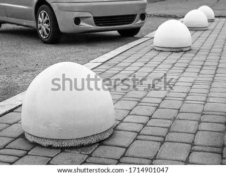 Concrete structure to prevent sidewalk parking #1714901047