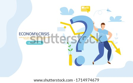 World financial crisis. Oil price drop. Collapse of the economy. Bankruptcy. Down arrow stocks graph. Economy stock market crash down. Depression amid losing money Web banner for internet site vector