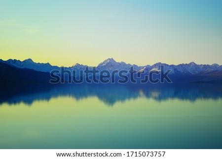 Long exposure shot in the evening at Lake Pukaki.  #1715073757