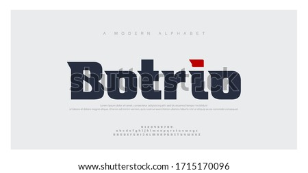 Sport Modern Future bold Alphabet Font. Typography urban style fonts for technology, digital, movie logo bold style. vector illustration #1715170096