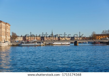 Stockholm, view of the waterfront and architecture of the city #1715174368