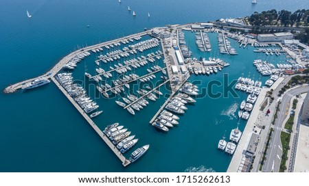 ACI Marina Split, aerial photography taken during the daylight. Royalty-Free Stock Photo #1715262613