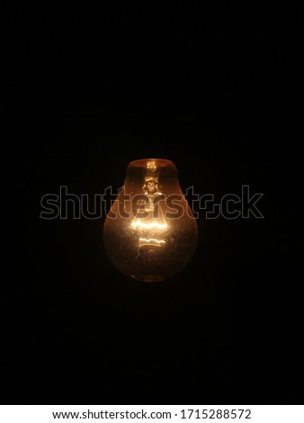 Filament bulb with black background image HD