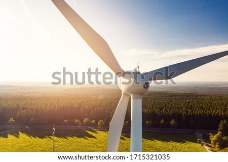 Wind Power Renewable Energy Plant Royalty-Free Stock Photo #1715321035