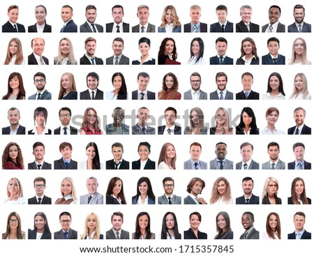 portraits of successful employees isolated on a white #1715357845