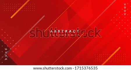 Dynamic fluid red geometric with colorful gradient background Royalty-Free Stock Photo #1715376535