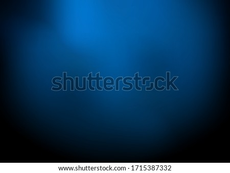 Abstract dark blue blurred background with smoke and space for your text. Nightclub space. Vector illustration Royalty-Free Stock Photo #1715387332