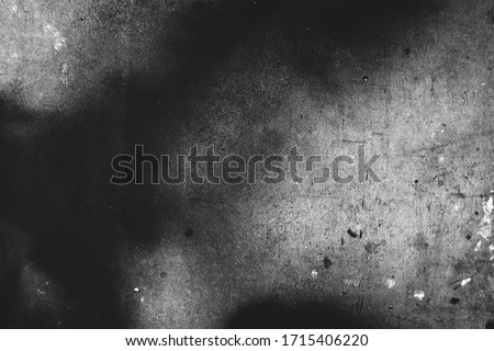 Photo of old scratched surface texture in black and white colors