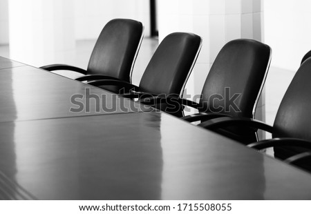 Empty interior of business conference room. #1715508055