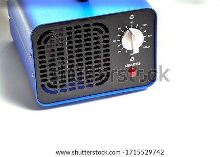 generator converter disinfectant ozone inside a home. covid 19 Royalty-Free Stock Photo #1715529742