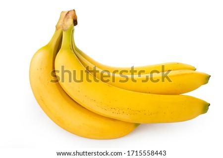 Banana, side angle banana on a white background (Tr- Muz) #1715558443