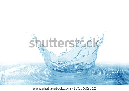 Water splash, water splash isolated on white background, water  #1715602312