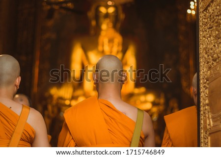 A Thai man ordain to a Monk situation #1715746849