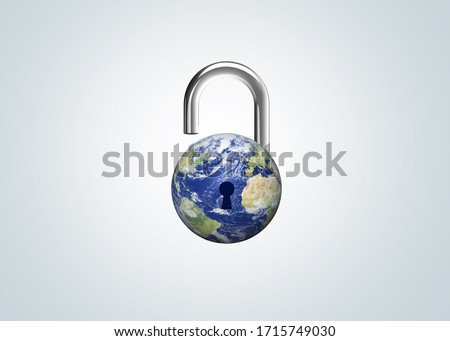 CORONAVIRUS Withdrawal of lockdown. Covid-19 Pandemic world lockdown for quarantine. World many country and city under lockdown, now Withdrawal of lockdown at many city. Royalty-Free Stock Photo #1715749030