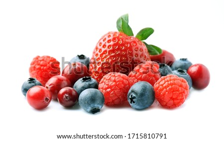 Fresh berries isolated on white backgrounds. #1715810791