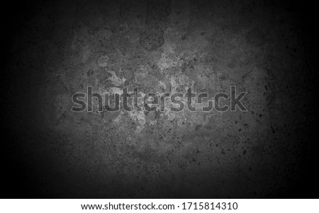 Old wall texture cement dark black gray  background abstract grey color design are light with white gradient background. Royalty-Free Stock Photo #1715814310