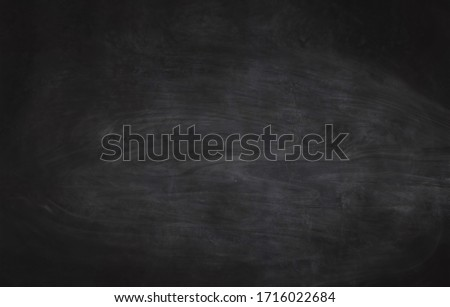 Chalkboard texture background with grunge dirt white chalk on blank black board billboard wall, copy space, element can use for wallpaper education communication backdrop #1716022684