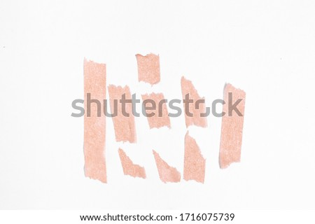 piece of masking tape for photos on a white background